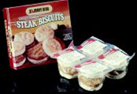 Modified-atmosphere packaging is being used for a variety of products distributed under refrigeration. From left, Jimmy Dean processed meat sandwiches; home-meal replacement kits consisting of sauce plus individual packets of modified-atmosphere-packaged pasta and modified-atmosphere-packaged fresh-cut vegetables; and DiGiorno high-acid pasta sauce.