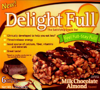 Fig 2—DelightFull Bars, which contain dietary fiber, are marketed to help consumers eat less.