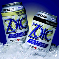 ZOIC® Protein Nutrition Drink from LifeForce Labs is 99% fat free, offers 21 g of protein, and has only 2 net carbs/serving. The beverage contains soy protein and is certified by the American Heart Association as meeting food criteria for saturated fat and cholesterol for healthy people over age 2.