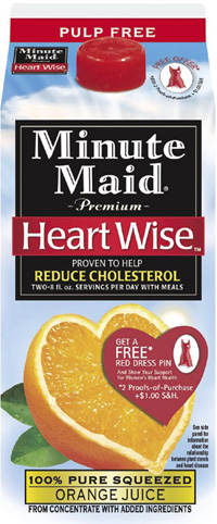 Coca-Cola Co. has applied for approval to market its Minute Maid Premium Heart Wise Orange Juice in the UK.
