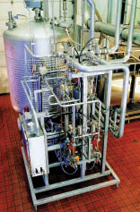 Spiral-wound membrane fi ltration system is commonly used for milk fractionation.