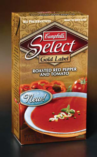 Campbell Soup Co.'s Select particulate-containing soups are aseptically packaged on SIG Combibloc equipment.