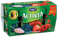Activia yogurt has been shown to help naturally regulate the digestive system in two weeks, when eaten daily as part of a healthy and balanced diet.