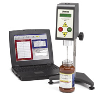 Rheometer Model YR-1 uses a vane spindle to measure yield stress in tomato sauce.