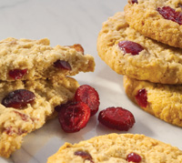 Flavored sweetened dried cranberries have high processing tolerance, delivering flavor and texture to cookies, bagels, breads, and other applications.