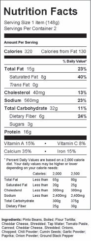 Preparation of Nutrition Facts panels on food labels are just one application of software packages available to food manufacturers.