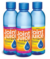 Joint Juice Fitness is a lightly flavored dietary supplement enhanced with 1,500 mg of glucosamine per bottle to hydrate joints.