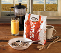 Innovia Films' biodegradable, compostable NatureFlex film is used as part of the packaging for a leading British cereal producer's organic product line.