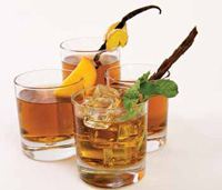 Whiskey can be combined with such flavors as chocolate, peach, ginger, and mint julep to create a variety of drinks as well as sauces and marinades.