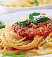 Pasta made from durum wheat has a high content of gluten and is therefore one of the foods that must be avoided by people with celiac disease.