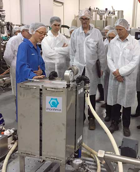Demonstration of Porifera's commercial forward osmosis unit.