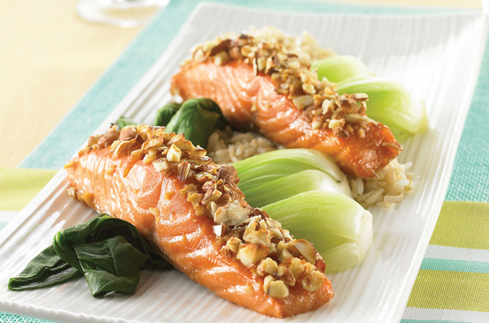 Salmon Filets with Almonds