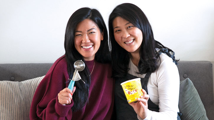 Hakuna Brands co-founders Mollie Cha (left) and Hannah Hong