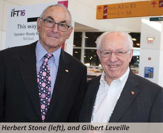 Herbert Stone (left), and Gilbert Leveille