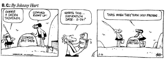 Fig. 1—Establishing an open date. Reproduced courtesy of the cartoonist