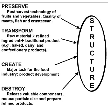 Fig. 1—Relation between food processing and the structure of foods. Adapted from Aguilera and Stanley (1999)
