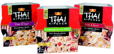 Fig. 8—Thai Kitchen's line of instant rice noodle bowls are one illustration of the prepared food category that currently has the most growth potential: Asian.