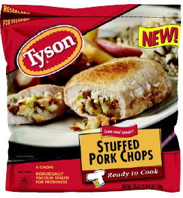 Fig. 2—Ready-to-cook, individually frozen meats and poultry from Tyson Foods are making home cooking easier than ever.