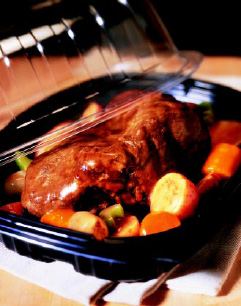 Fig. 3—Seasoned, fully cooked pot roast and other products from the National Cattlemen's Beef Association are among the new competitors to rotisserie chicken as deli takeout.