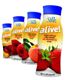 Fig. 14—Probiotic soy milks, such as Silk aLive, are the latest innovation in the fast-moving soymilk category.