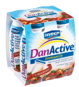 "Fig. 19—Dannon's new DanActive probiotic drink in ""little bottles"" is the first U.S. food product specifically geared to improving digestive health and the first to appear in the trendy ""daily dose"" format."