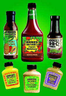 Fig. 3—Riding the trend to healthier foods are sauces and condiments such as those from Annie's Naturals.