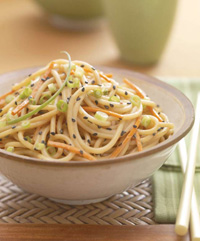 Americans—especially younger generations—are embracing foreign cuisines such as Thai-style sesame peanut noodles. Black sesame seeds add color, flavor, and texture.