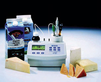 HI84429 microprocessor-based titrator and pH meter from Hanna Instruments is designed for dairy and cheese applications (see p. 128).