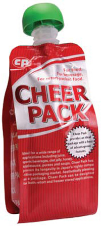 Cheer Pack from CDF Corporation is an easilyportable, multi-layer laminate pouch (see p. 125).