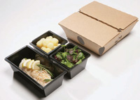 With the CuliDish packaging system from Shieltronics, it is possible to prepare combination meals in a microwave, while maintaining different serving temperatures for individual components.