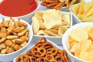 Some food manufacturers have reduced sodium in foods like salty snacks.