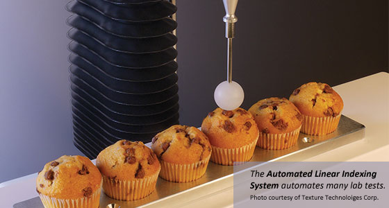 The Automated Linear Indexing System automates many laboratory tests and is suitable for a wide range of product categories, including dairy, baked goods, confectionery, fruits, and vegetables.