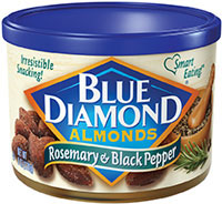Blue Diamond Almonds with rosemary and black pepper appeals to Millennial consumers in search of new flavors.