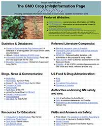 The GMO Crop (mis)Information Page