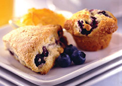 Blueberry baked products