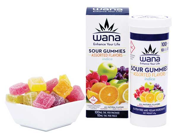 Handcrafted Sour Gummies from Wana.