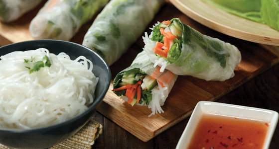 Veggie Spring Rolls with Asian Cellophane Noodles