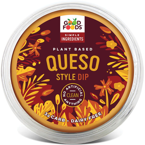Vegan queso dip from Good Foods