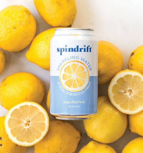 Spindrift's sparkling water