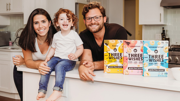 Margaret and Ian Wishingrad created  Three Wishes Grain Free Cereal