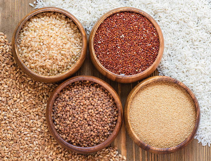 Grains in bowls