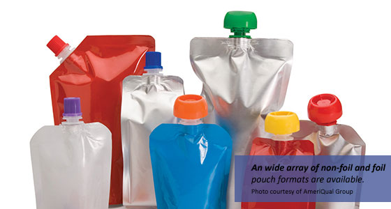 A wide array of non-foil and foil pouch formats are available from AmeriQual Group.