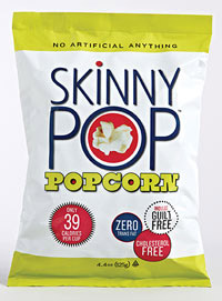 Skinny Pop popcorn has gained success with its low-calorie, healthy, and natural positioning.