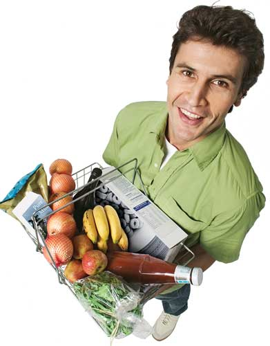 Man with groceries