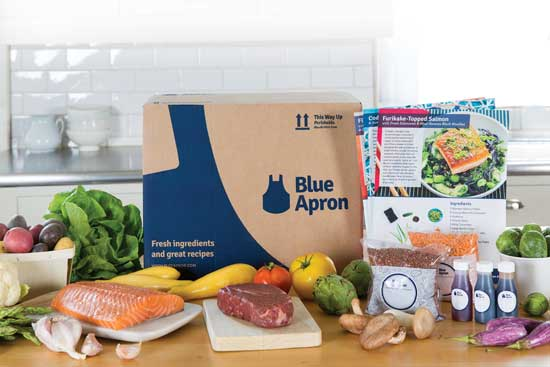 Blue Apron fresh ingredients