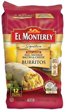 El Monterey breakfast burritos