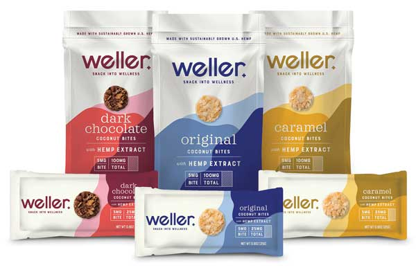 CBD Coconut Bites are infused with CBD from Weller.
