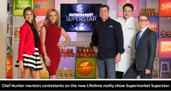 Chef Hunter mentors contestants on the new Lifetime realty show Supermarket Superstar.