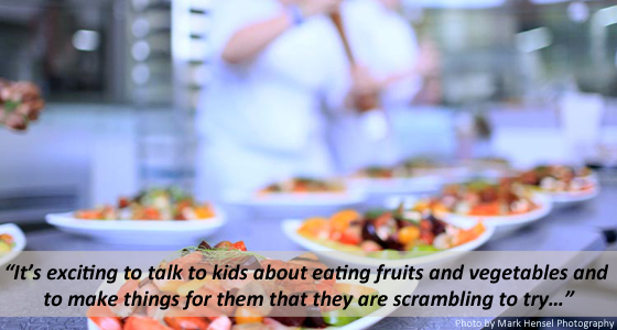 It's exciting to talk to kids about eating fruits and vegetables and to make things for them that they are scrambling to try…