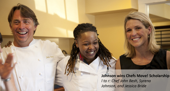 Syrena Johnson named as the first Chefs Move! Scholarship receipient